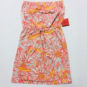 ✨ 20% OFF! Mossimo tropical leaf strapless dress M